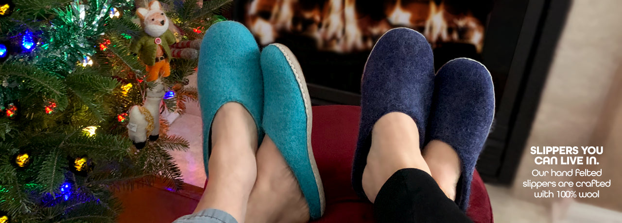 Naturally Felted Slippers