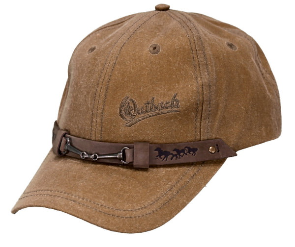 Outback Trading Co Equestrian Cap Mens Hat Field Tan