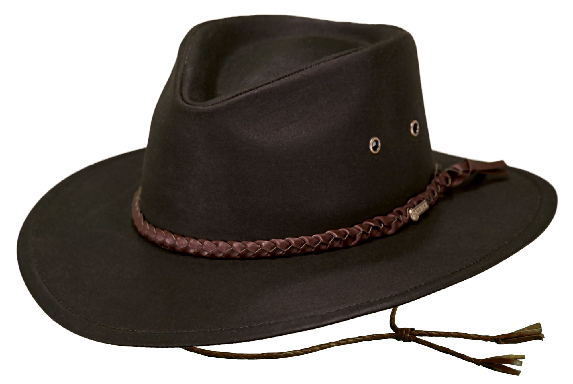 Outback Trading Co. Grizzly Mens Hat Brown 100% Cotton Oilskin ... 6f8600355f7