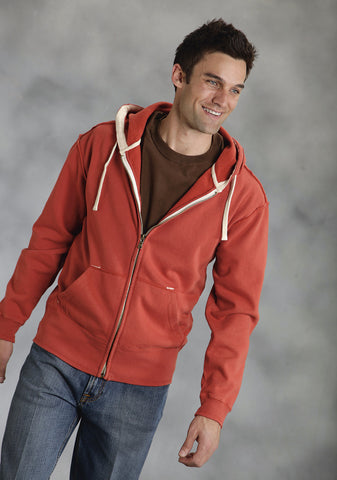 Ouray Mens Rust 100% Cotton USA Hoodie