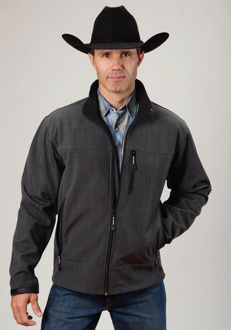 Roper Technical Softshell Mens Grey Polyester Jacket