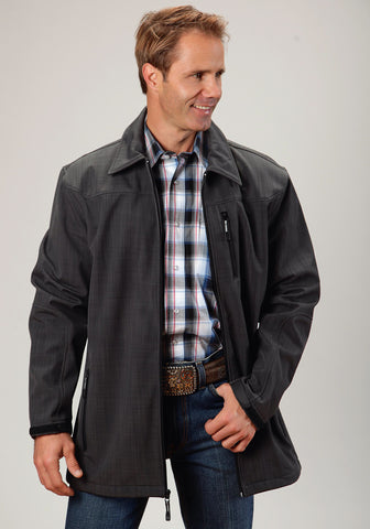 Roper Technical Softshell Mens Grey Polyester Ranch Coat