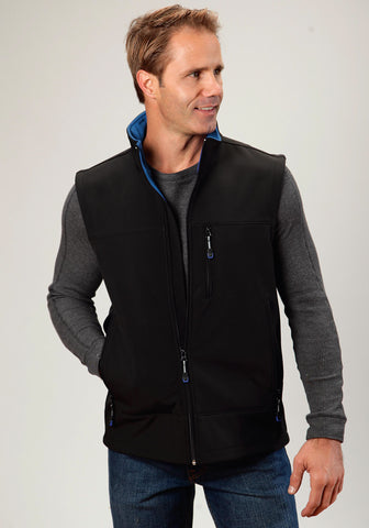 Roper Technical Softshell Mens Black Polyester Vest