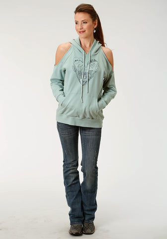 Roper Sweatshirt Womens Sage 100% Cotton French Terry Hoodie