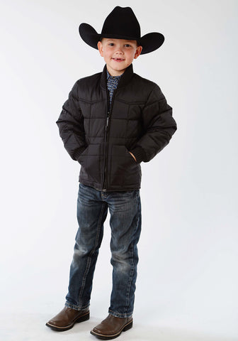 Roper Rangegear Boys Kids Black Polyester Insulated Jacket