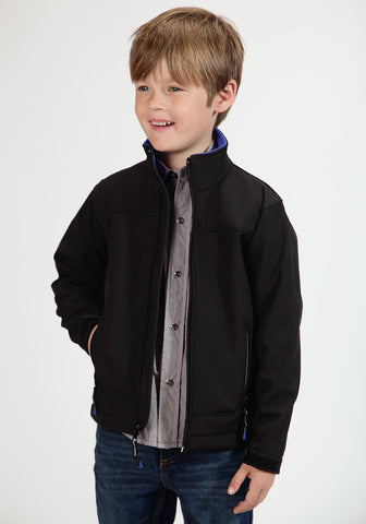 Roper Fleece Boys Black Polyester Softshell Jacket