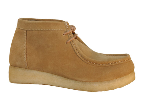 Roper Mens Casual Footwear Sand Suede Leather Chukka Boots