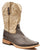 Roper Mens Square Toe Brown Faux Leather Western Cowboy Boots