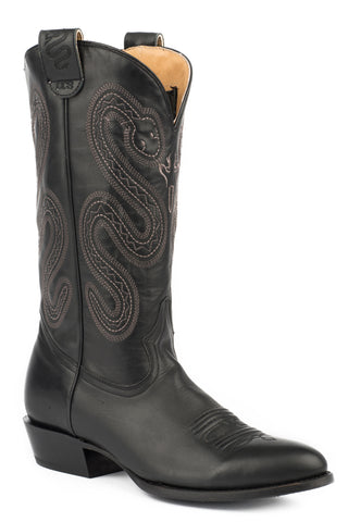 Roper Score Mens Brown Leather Cowboy Boots