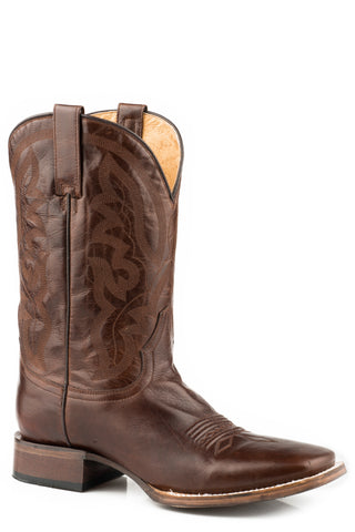 Roper Mens Burnished Brown Leather Cassidy Cowboy Boots