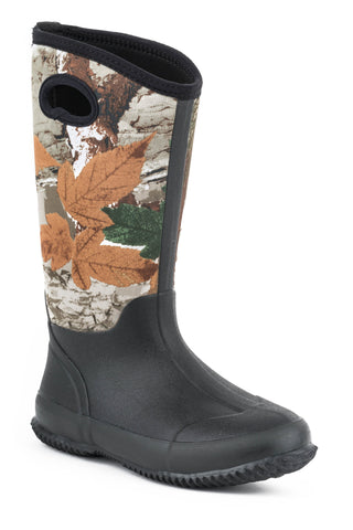 Roper Boots Ladies Multi Neoprene Waterproof Barnyard Camo Chore