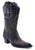 Roper Womens Black Faux Leather 13in Cutout Western Narrow Toe Boots