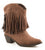 Roper Womens Brown Fashion Smooth Faux Leather 8in Shorty Western Fringe Boots