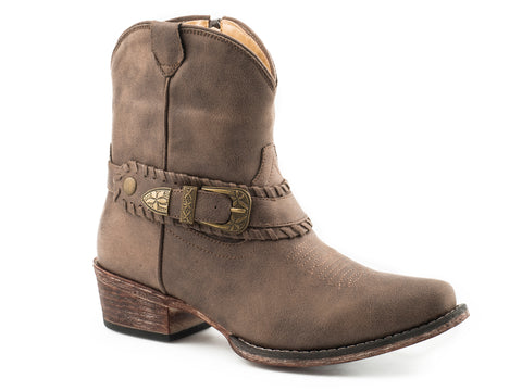 Roper Womens Vintage Brown Faux Leather Nelly Cowboy Boots