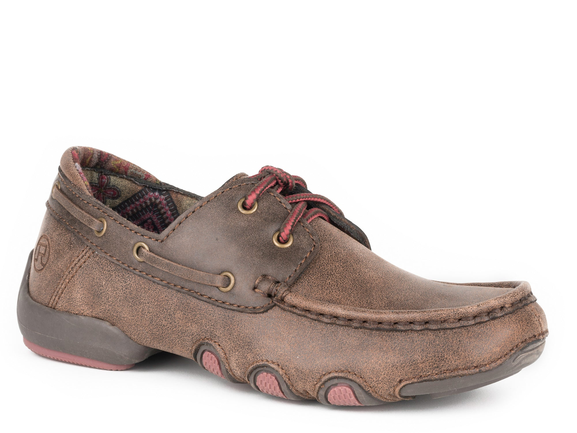Roper Boat Oxfords Womens Brown Leather Vintage Shoes The Western