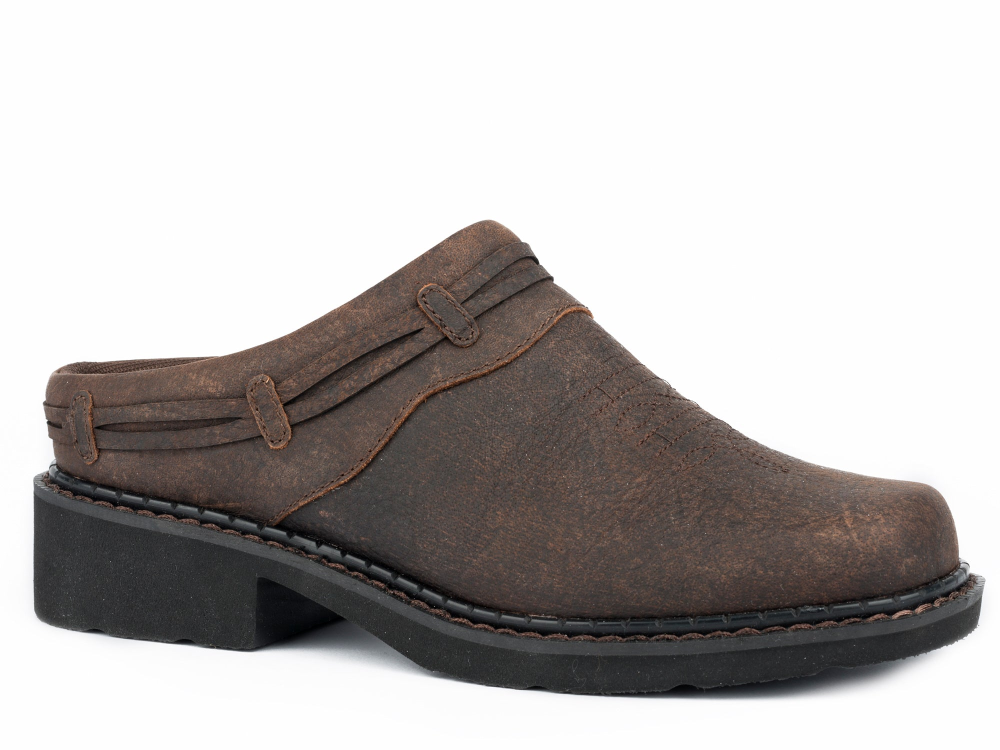 Roper Jane Womens Brown Leather Mules