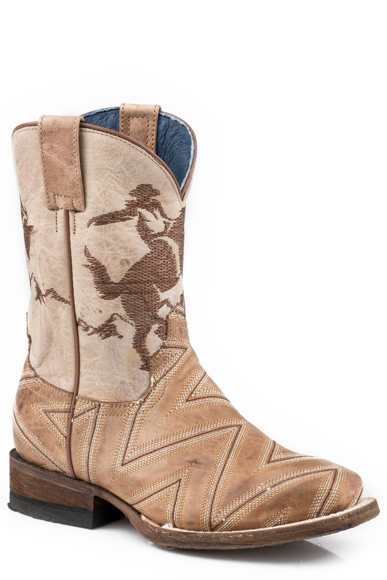 Roper Youth Boys Burnished Leather Arlo Jr Horse Rider Cowboy Boots The Western Company