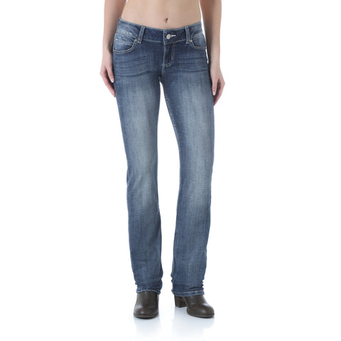 Wrangler MS Wash Cotton Blend Womens Premium Patch Jeans