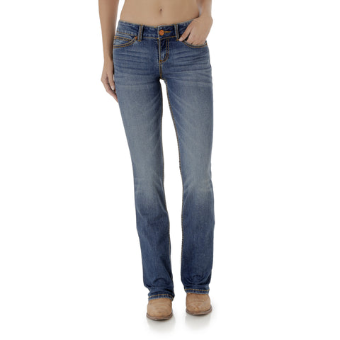 Wrangler Womens KM Wash Cotton Blend Retro Mae Jeans