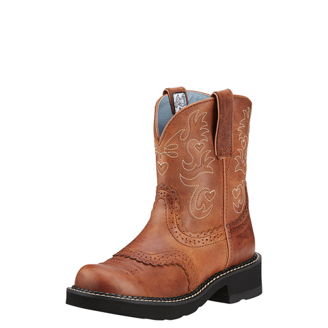 Ariat Russet Rebel Womens Fatbaby Saddle Leather Western Boots