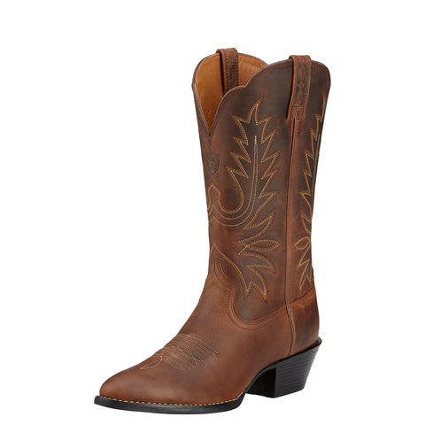 Ariat Brown Womens Heritage Western R Toe Leather Western Boots