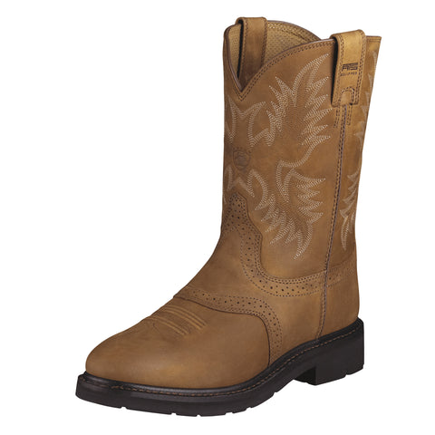 Ariat Aged Bark Mens Sierra Saddle Leather Work Boots