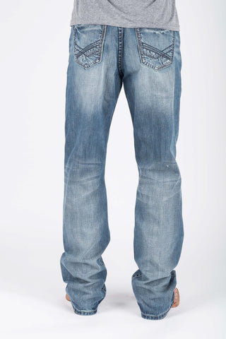 Tin Haul Mens Blue 100% Cotton Lined Deco Stitch Jeans