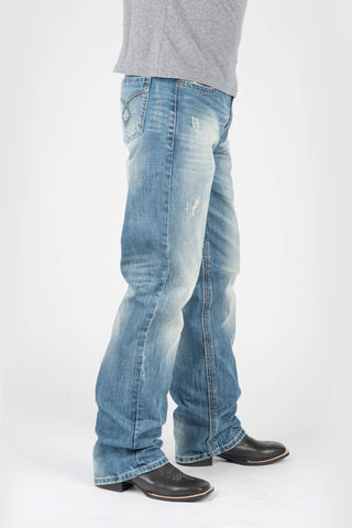 Tin Haul Mens Blue 100% Cotton Loop Back Pocket Jeans