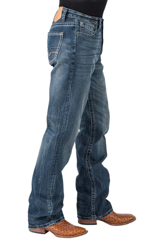 Tin Haul Mens Blue 100% Cotton V Shape Stitch Jeans