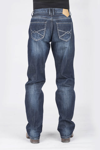Tin Haul Mens Blue 100% Cotton Joe Fit Diamond Deco Jeans