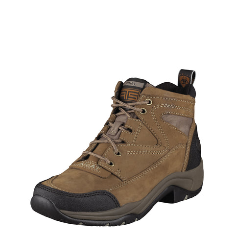 Ariat Taupe Womens Terrain Leather Hiking Boots Ankle