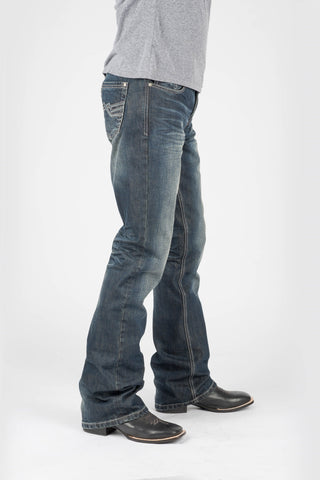 Tin Haul Mens Blue 100% Cotton Corded Deco Jeans