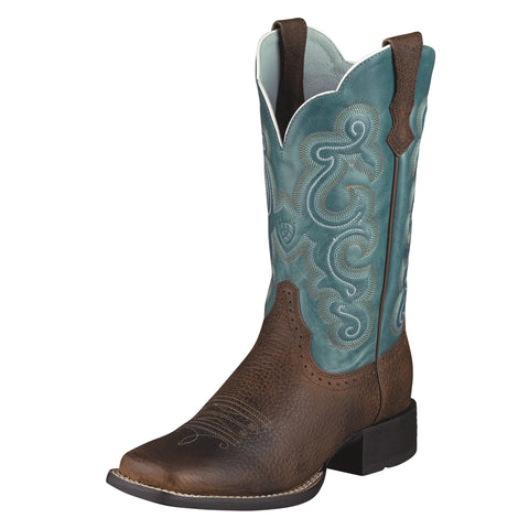 Ariat Brown/Rowdy Womens Quickdraw Leather Western Boots