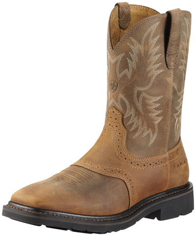 Ariat Aged Bark Mens Sierra Sq Toe Leather Work Boots