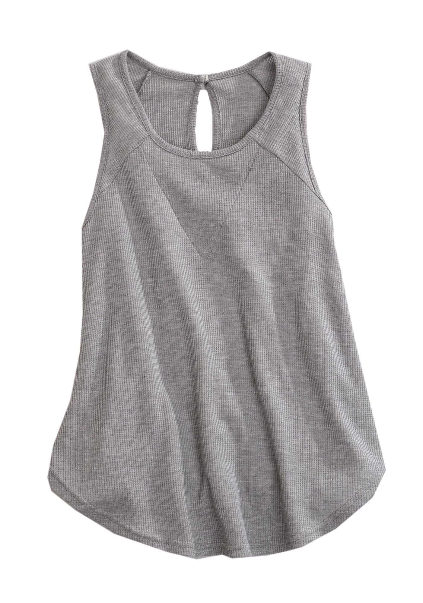 af3da8240c7fb Tin Haul Womens Grey Poly Rayon Thermal Knit Tank Top – The Western ...
