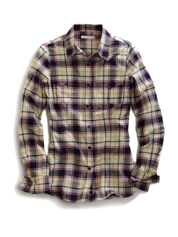 Tin Haul Ladies Multi 100% Cotton Spicy Plaid L/S Shirt
