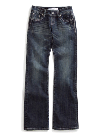 Tin Haul Rosie The Go To Ladies Blue Cotton Blend Heavy Contrast Jeans
