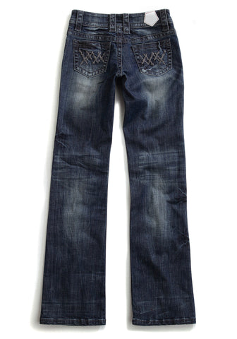 Tin Haul Womens Blue 100% Cotton Crazy X Jeans