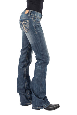 Tin Haul Womens Blue Cotton Blend Allover Arrows Jeans