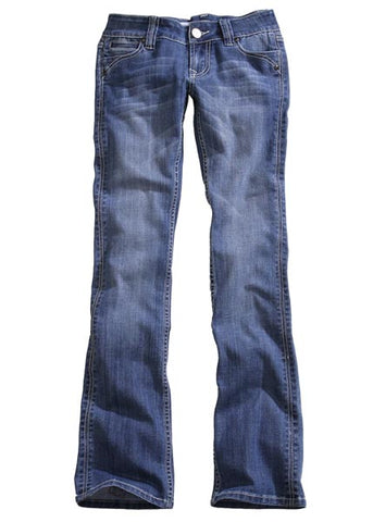 Tin Haul Womens Denim Blue Cotton Blend Boot Cut Dolly Contrast Jeans