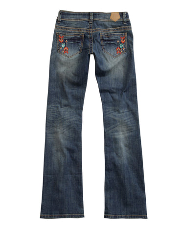 Tin Haul Womens Blue Cotton Blend Colorful Arrows Jeans