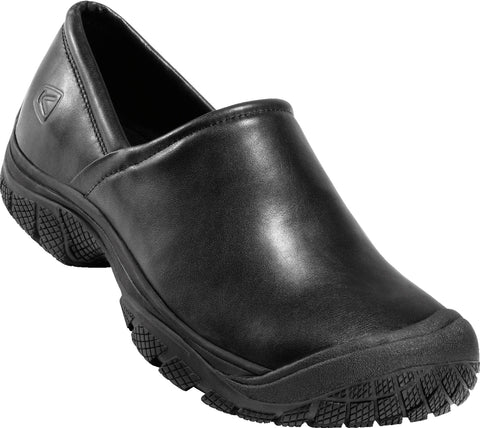 Keen Utility Black Mens PTC II WR Leather Slip-On Shoes