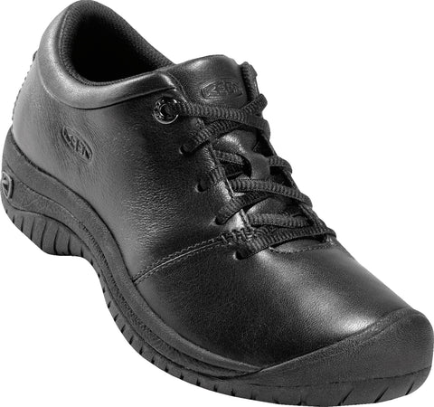 Keen Utility Black Womens PTC WR Leather Oxford Shoes