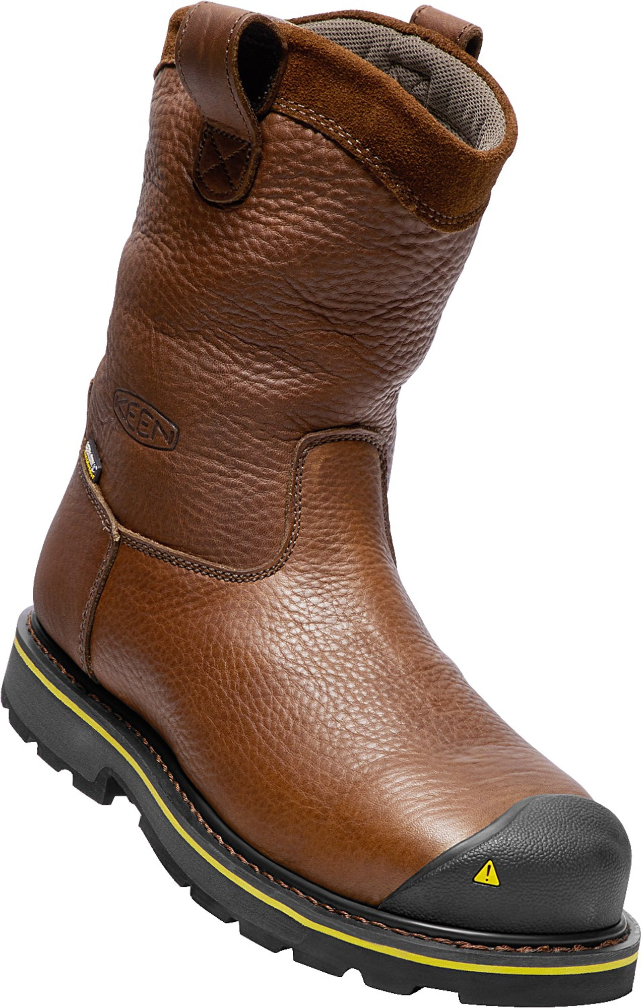 aef9280e1b1 Keen Utility Dark Brown Mens Dallas Wellington WP Leather Work Boots ...