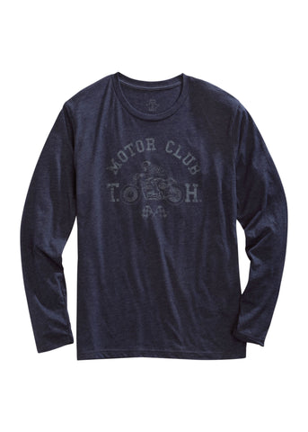 Tin Haul Mens Blue Cotton Blend Motor Club L/S T-Shirt