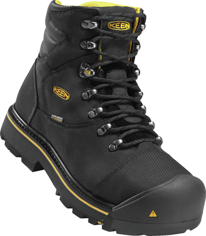 Keen Utility Black Mens Milwaukee WP WP Leather Work Boots