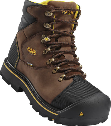 Keen Utility Dark Earth Mens Milwaukee WP WP Leather Work Boots