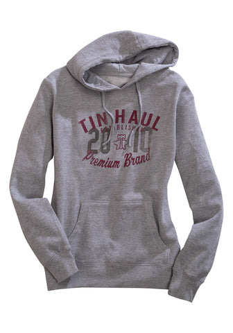 Tin Haul Womens Grey Cotton Blend 2010 Screenprint Hoodie