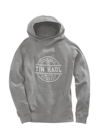 Tin Haul Asymmetric Womens Grey Cotton Blend Circle Hoodie