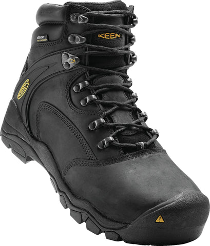 Keen Utility Black Mens Louisville 6in WP Leather Work Boots